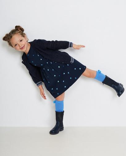 Nachtblaues Viskose-Kleid